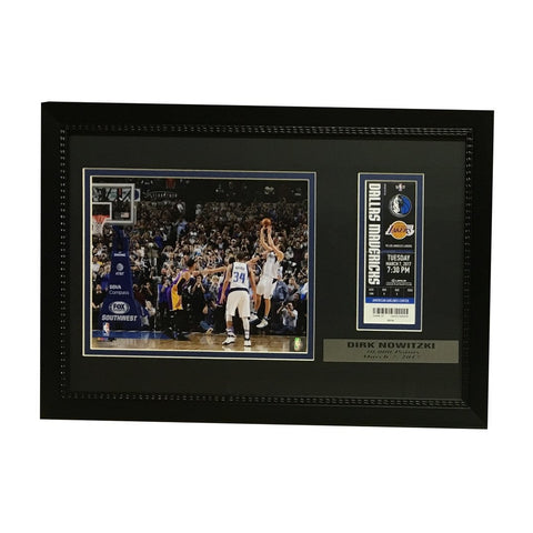 Dirk Nowitzki Dallas Mavericks 30000 Point Framed Ticket and Photo Unsigned 30000 Display Photo-Powers Sports Memorabilia