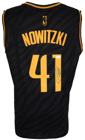 1a12ac0e5821 Dirk Nowitzki Signed Dallas Mavericks Black Adidas Swingman Jersey JSA  PSM-Powers Sports Memorabilia