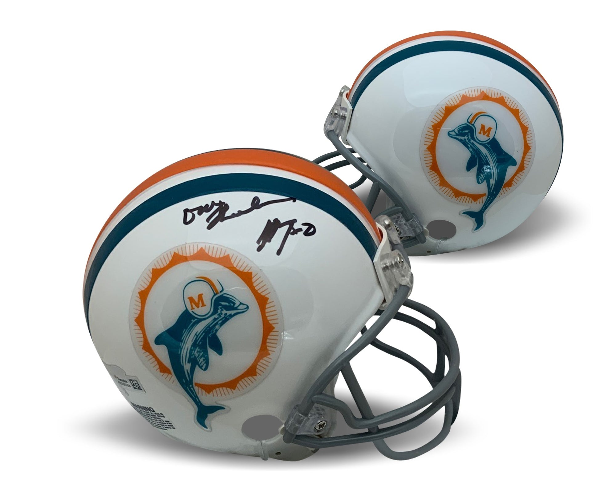 Don Shula Autographed NFL Miami Dolphins Signed Football Mini Helmet 17-0 Perfect Season Fanatics Authentic COA-Powers Sports Memorabilia