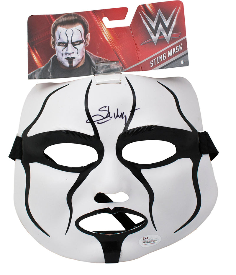 Sting Signed WWW Pro Wrestling Replica Mask JSA PSM-Powers Sports Memorabilia