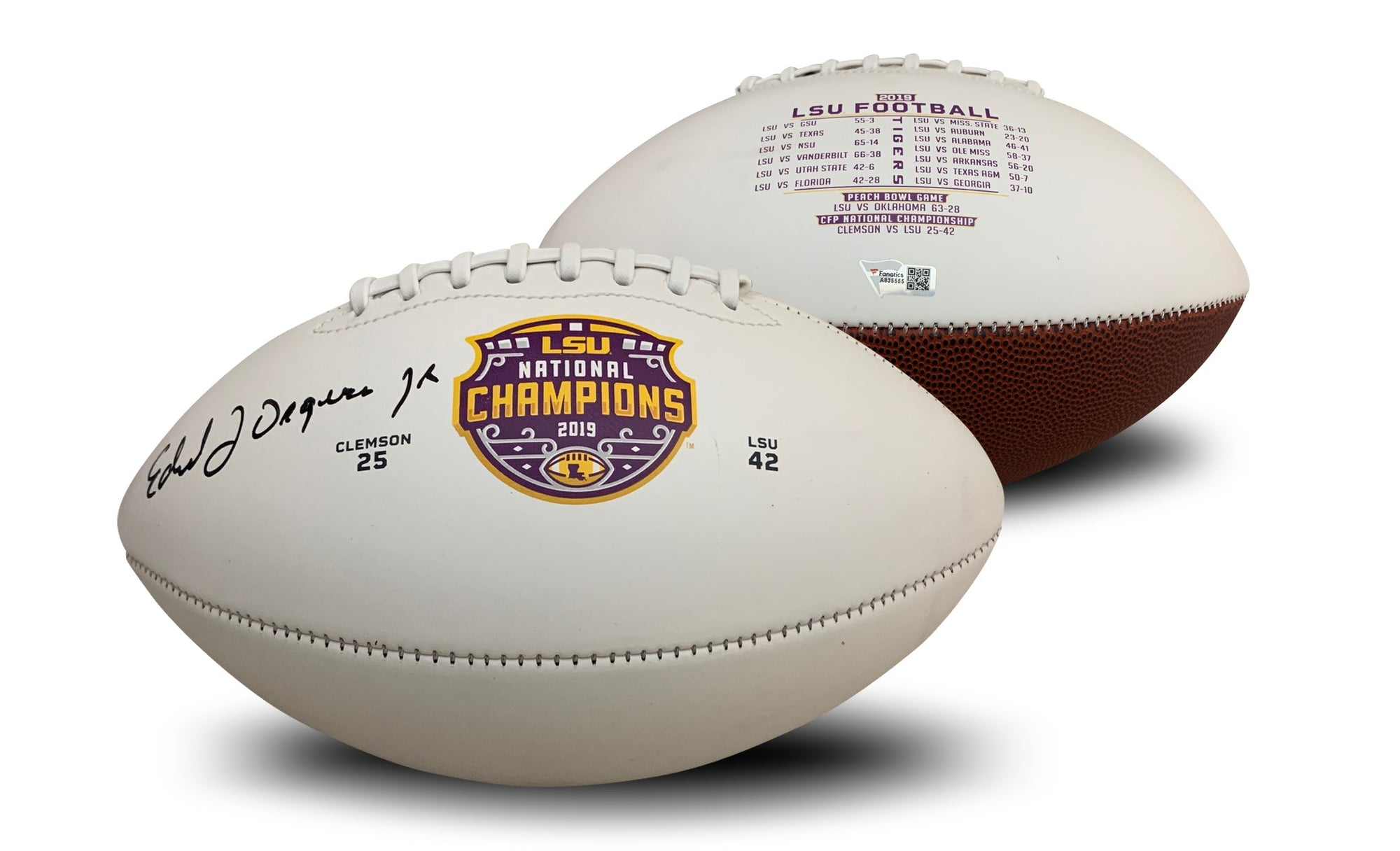 Ed Orgeron Autographed LSU Tigers 2019 National Championship Signed Football Fanatics Authentic COA-Powers Sports Memorabilia
