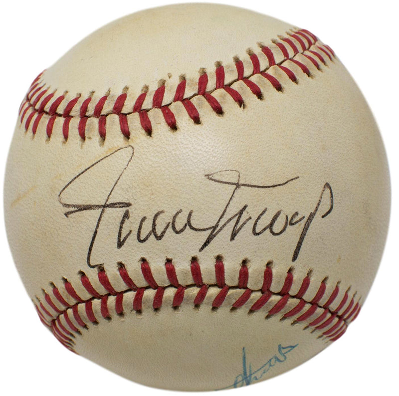 Willie Mays Eddie Mathews Signed Official AL Baseball w/Free Ball Cube PSA/DNA PSM-Powers Sports Memorabilia