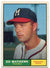 Eddie Mathews 1961 Topps Card PSM-Powers Sports Memorabilia