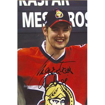Andrej Meszaros Ottawa Senators Autographed 4x6 Photo. This item comes with a certificate of authenticity from Autograph-Sports. PSM-Powers Sports Memorabilia