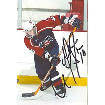 Adam Pineault Team USA Autographed 4x6 Photo.  This item comes with a certificate of authenticity from Autograph-Sports.