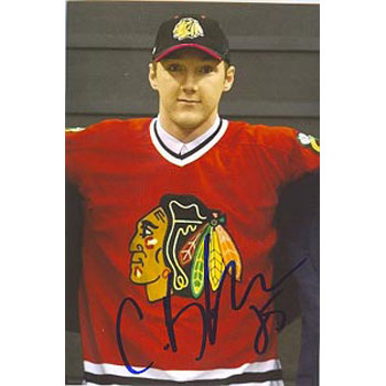 Cam Barker Chicago Blackhawks Autographed 4x6 Photo. This item comes with a certificate of authenticity from Autograph-Sports. PSM-Powers Sports Memorabilia