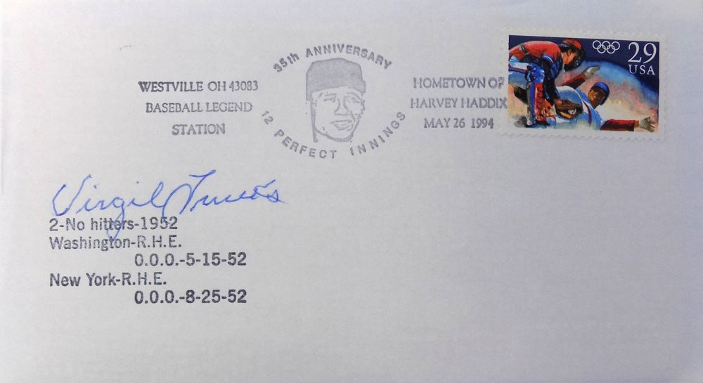 Virgil Trucks Pittsburgh Pirates Signed No Hitter First Day Cover PSM