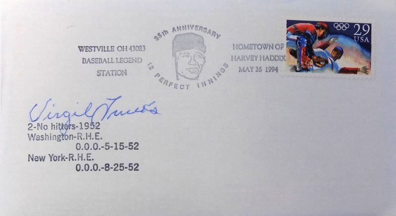 Virgil Trucks Pittsburgh Pirates Signed No Hitter First Day Cover PSM-Powers Sports Memorabilia