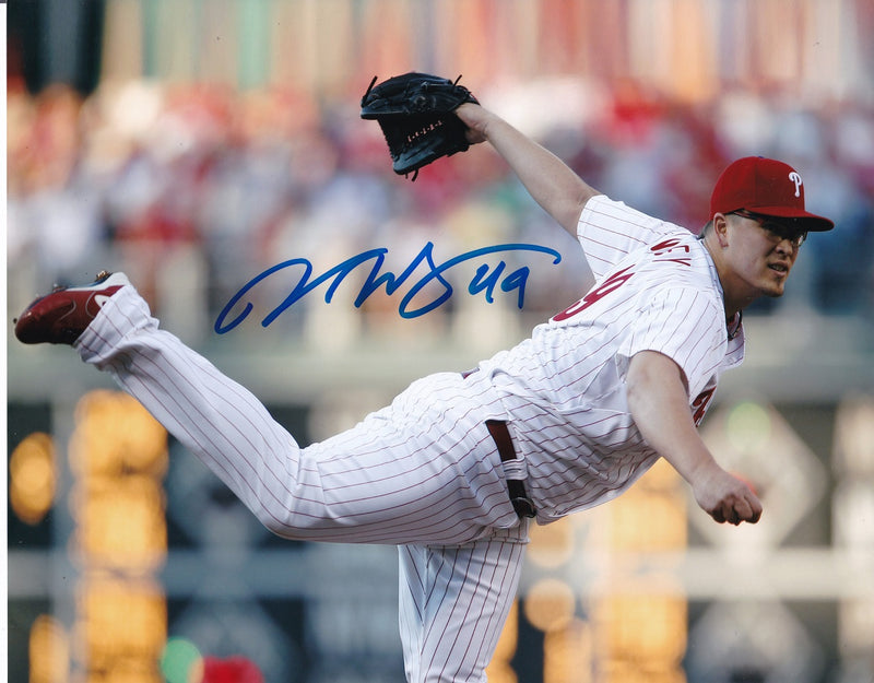 Vance Worley Philadelphia Phillies Signed 8x10 Baseball Pitching Photo SI PSM-Powers Sports Memorabilia