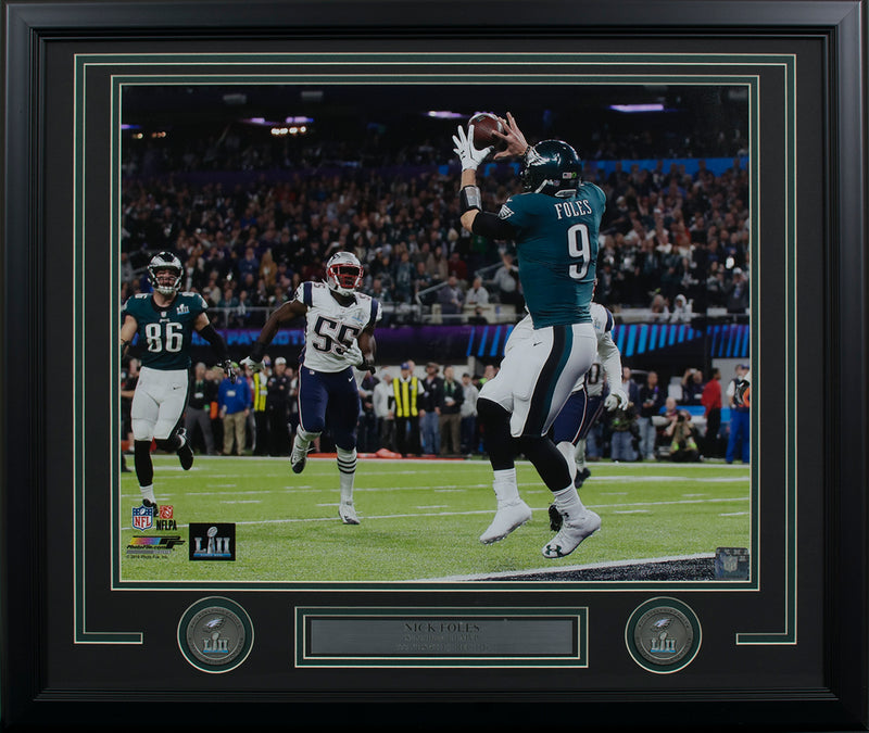 Nick Foles Framed 16x20 Philadelphia Eagles Super Bowl 52 Philly Special Photo PSM-Powers Sports Memorabilia