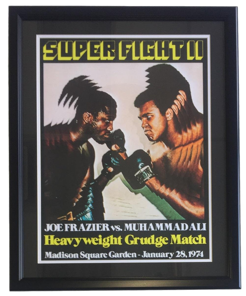 Muhammad Ali Joe Frazier Framed 18x24 Super Fight 2 Reprint Fight Poster PSM-Powers Sports Memorabilia