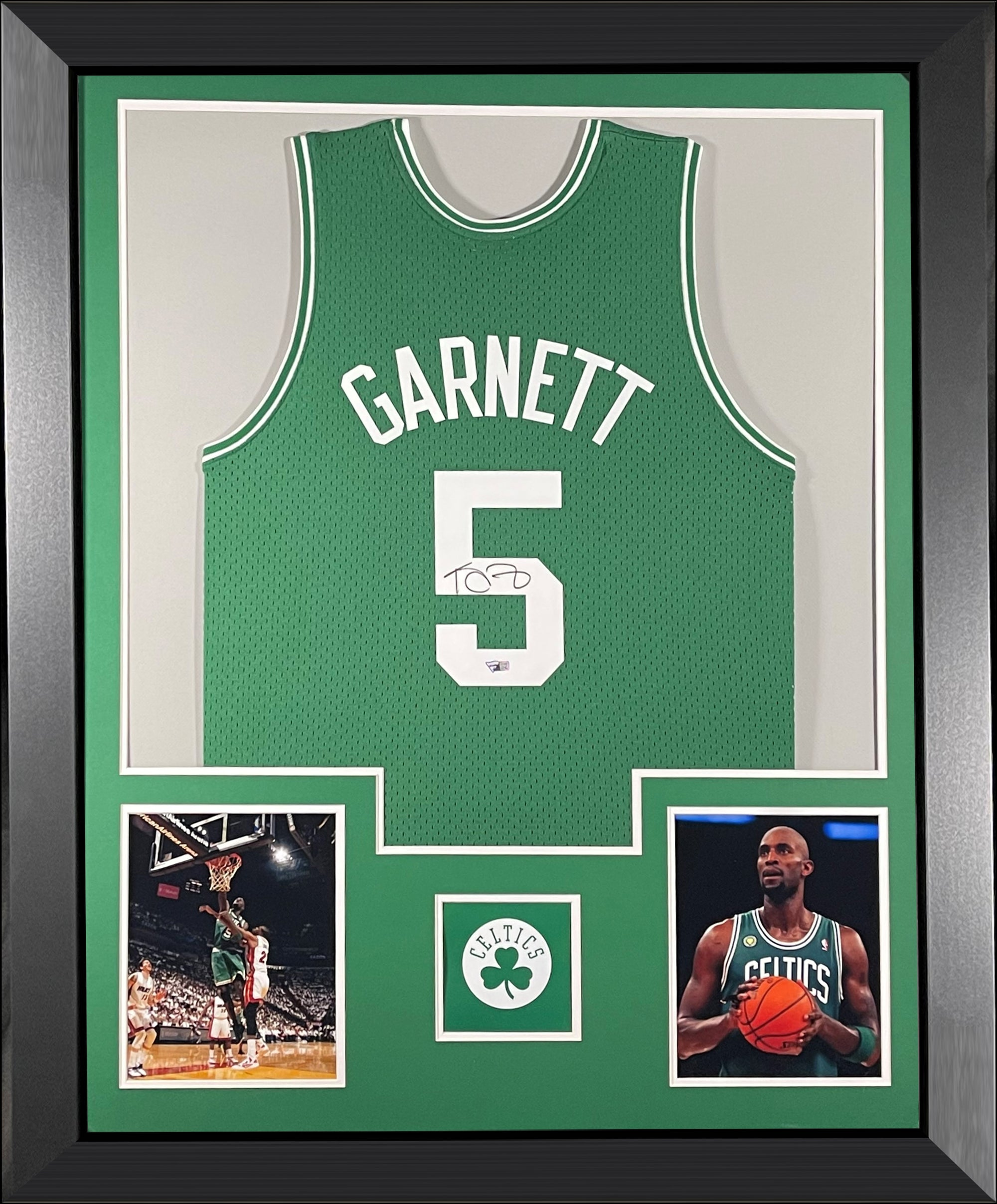 Kevin Garnett Autographed Boston Celtics 2007-2008 Mitchell and Ness NBA Swingman Signed Basketball Framed Jersey Fanatics Authentic COA-Powers Sports Memorabilia