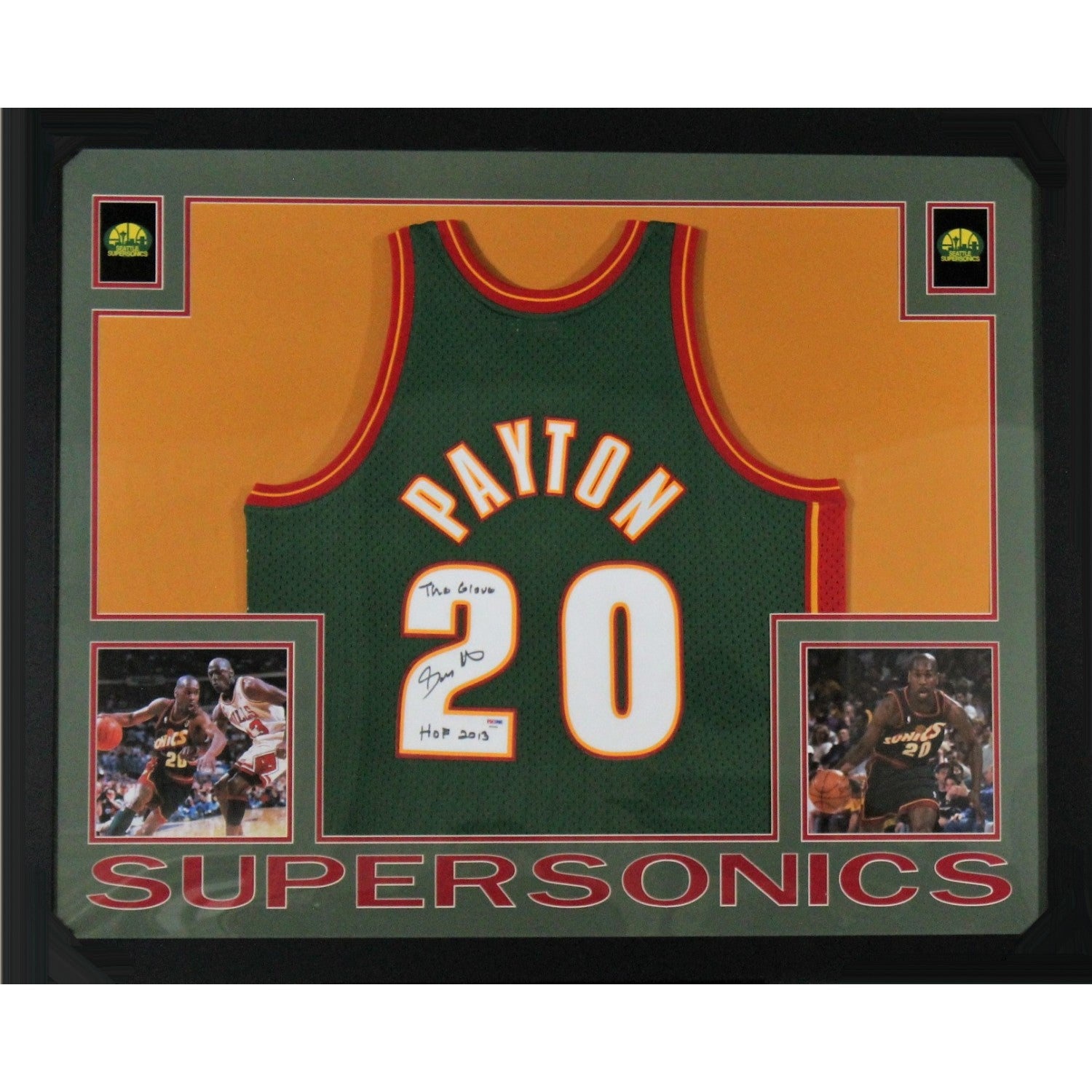 Signed Basketball Jersey Framed
