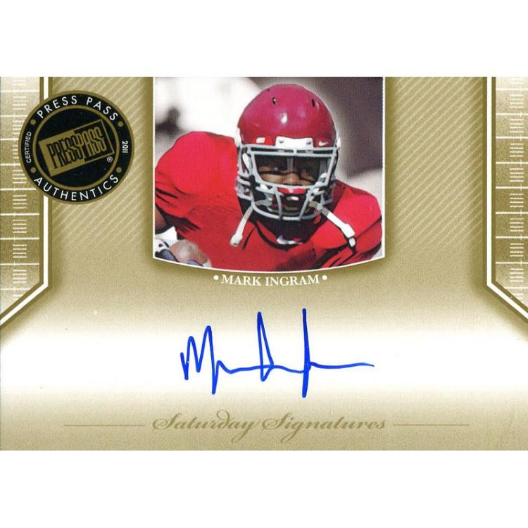 Mark Ingram Autographed 2011 Press Pass Rookie Card PSM-Powers Sports Memorabilia