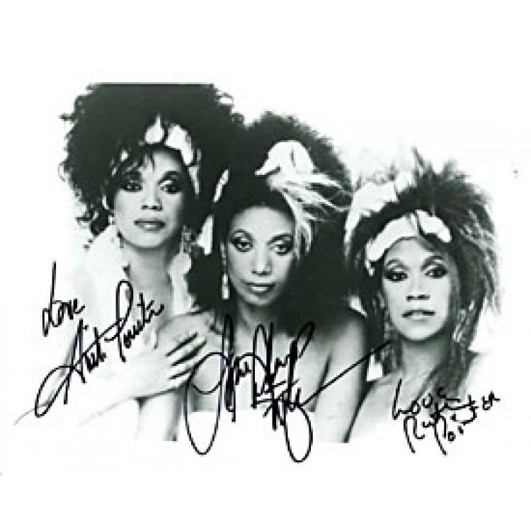 Pointer Sisters Autographed / Signed Black & White 8x10 Photo PSM-Powers Sports Memorabilia