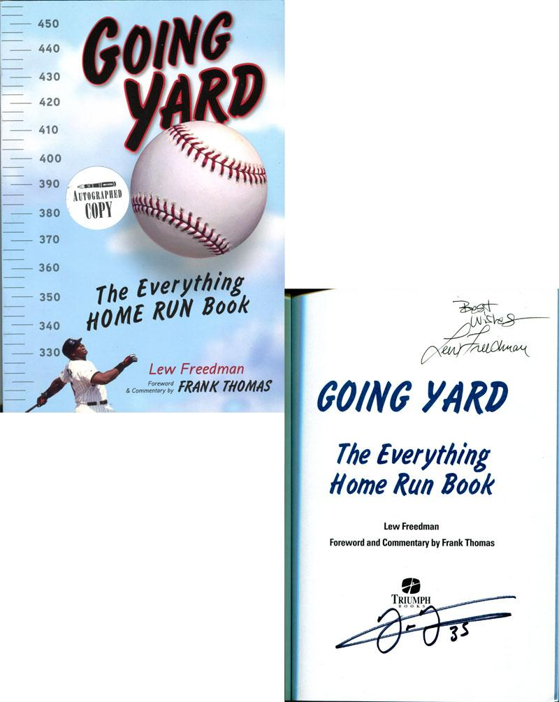 "Lew Freedman Autographed ""Going Yard"" Book PSM-Powers Sports Memorabilia"