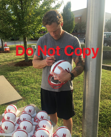 Grant Wistrom Autographed Nebraska Cornhuskers Authentic Signed Full Size Football Stat Helmet 3 x NATL CHAMP-Powers Sports Memorabilia