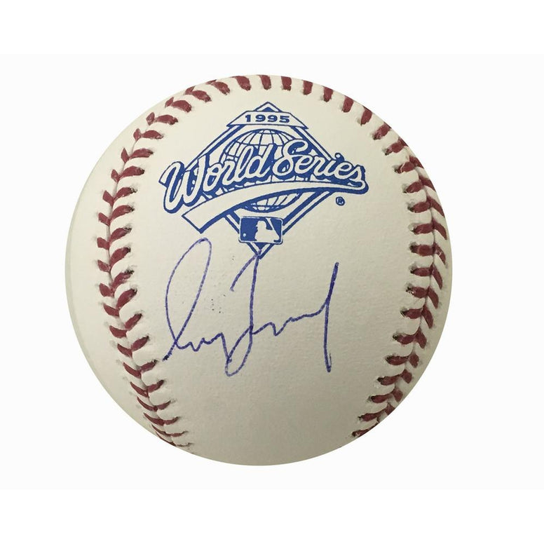 Greg Maddux Autographed Braves 1995 World Series Signed Baseball JSA COA 6-Powers Sports Memorabilia