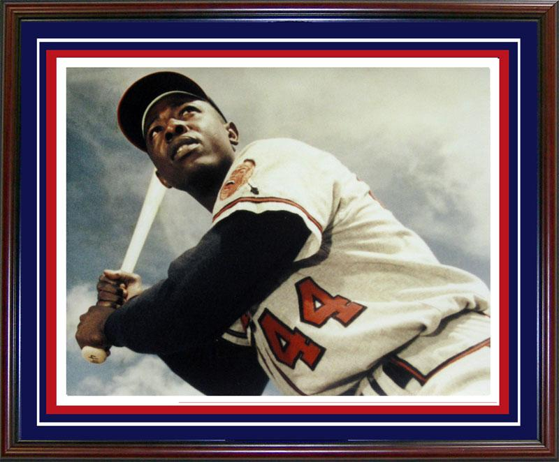 Hank Aaron Framed 16x20 Photo PSM-Powers Sports Memorabilia