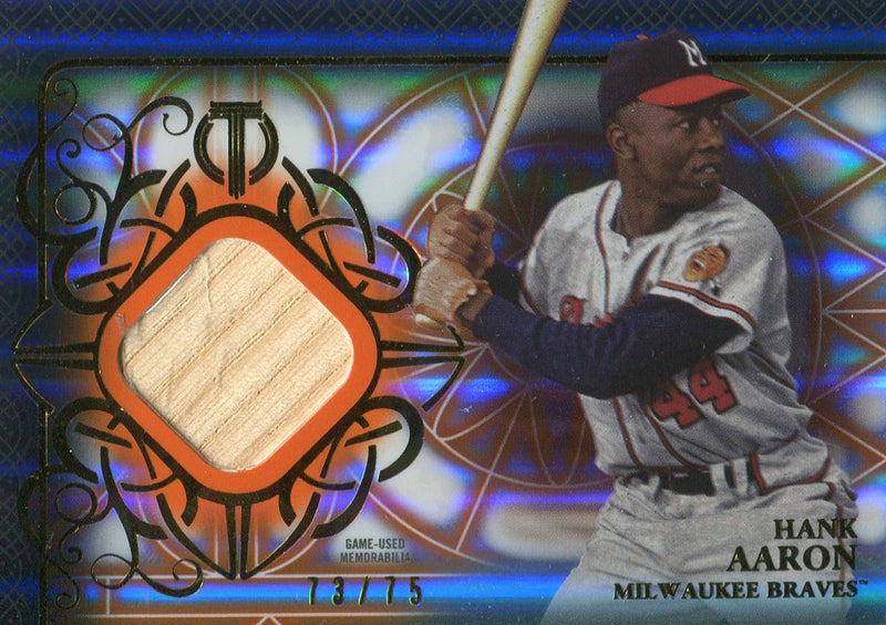 Hank Aaron Unsigned 2015 Topps Tribute Bat Card PSM-Powers Sports Memorabilia