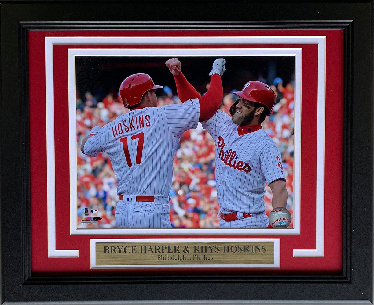 Bryce Harper Rhys Hoskins Philadelphia Phillies Framed 8x10 Photo PSM-Powers Sports Memorabilia