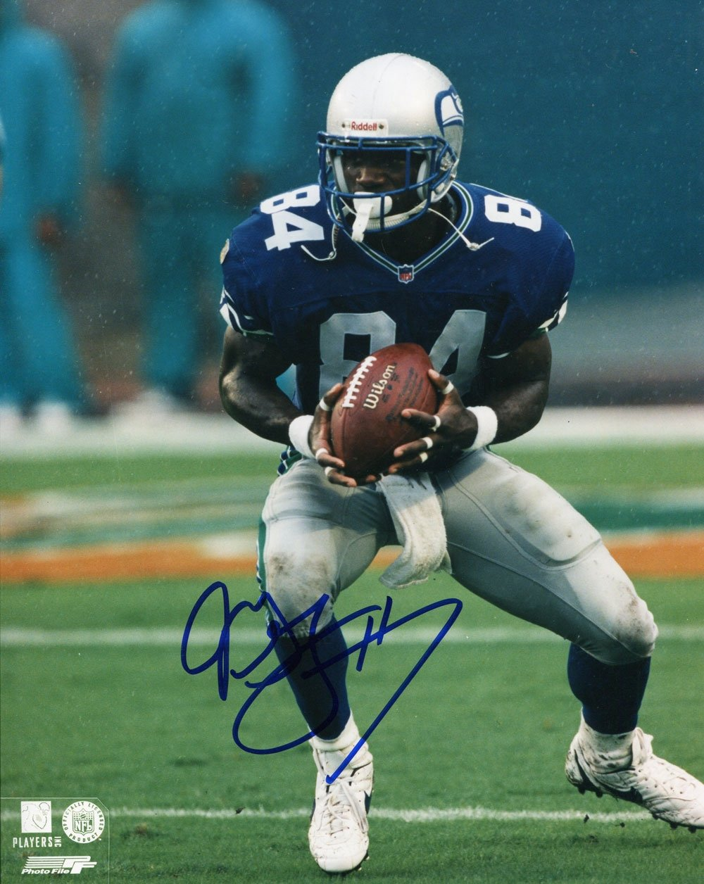 Joey Galloway Autographed Seattle Seahawks 8x10 Photo PSM-Powers Sports Memorabilia