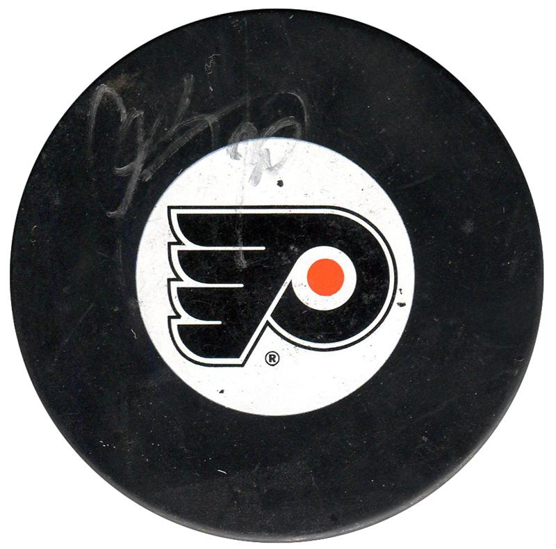 Chris Pronger Autographed Philadelphia Flyers Puck PSM-Powers Sports Memorabilia