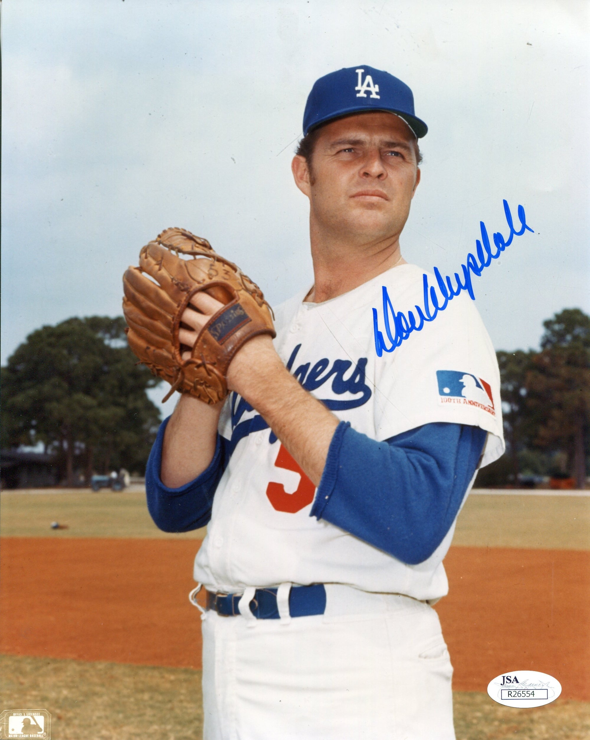 Don Drysdale Autographed Los Angeles Dodgers 8x10 Photo (JSA) PSM-Powers Sports Memorabilia