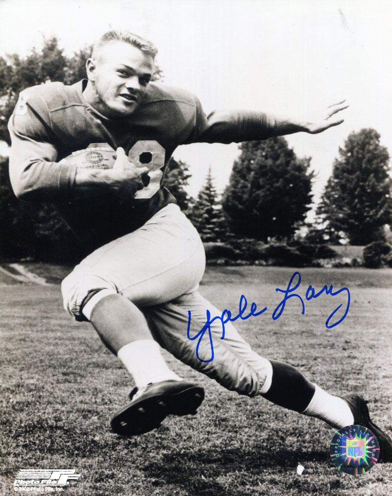 Yale Lary Autographed 8x10 Photo PSM-Powers Sports Memorabilia