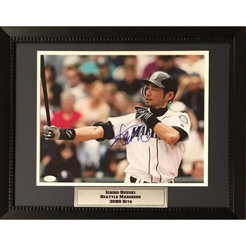 Ichiro Suzuki Autographed Seattle Mariners Signed 11x14 Baseball Framed Photo JSA COA-Powers Sports Memorabilia