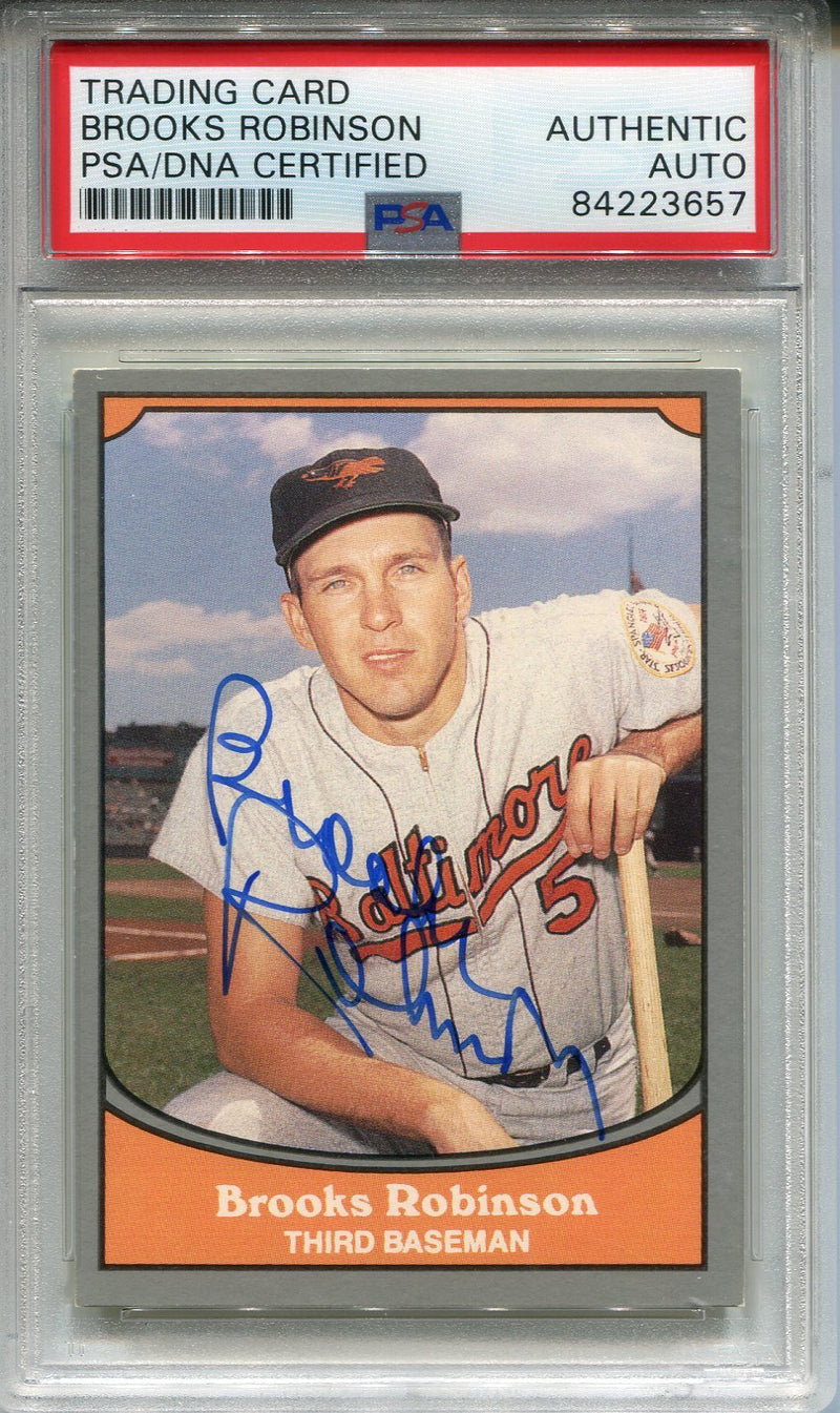 Brooks Robinson Autographed 1990 Pacific Card (PSA) PSM-Powers Sports Memorabilia