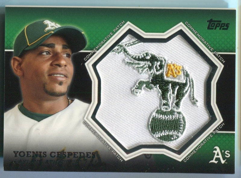 Yoenis Cespedes 2013 Topps Oakland Athletics Patch Card PSM-Powers Sports Memorabilia