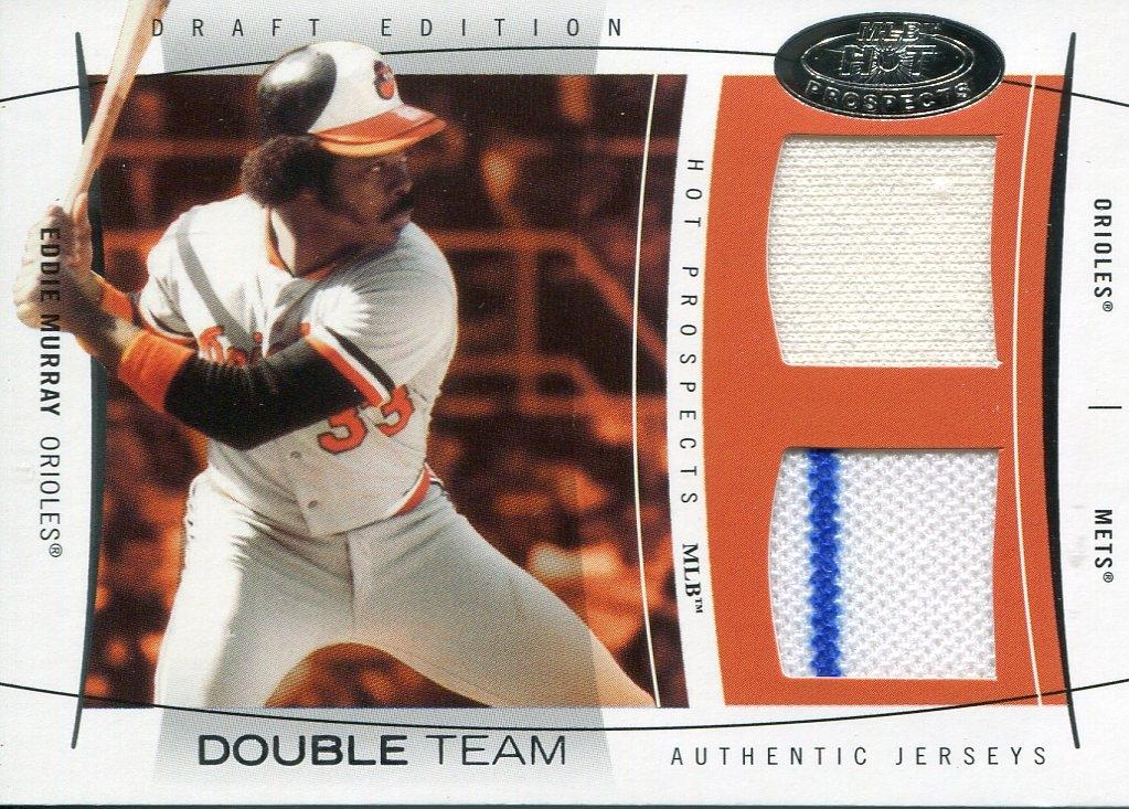 Eddie Murray 2004 Fleer Hot Prospects Authentic Game Used Jersey Card PSM-Powers Sports Memorabilia