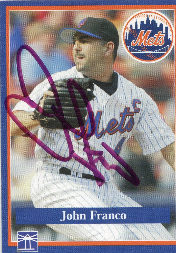 John Franco Autographed New York Mets Team Set Card PSM-Powers Sports Memorabilia