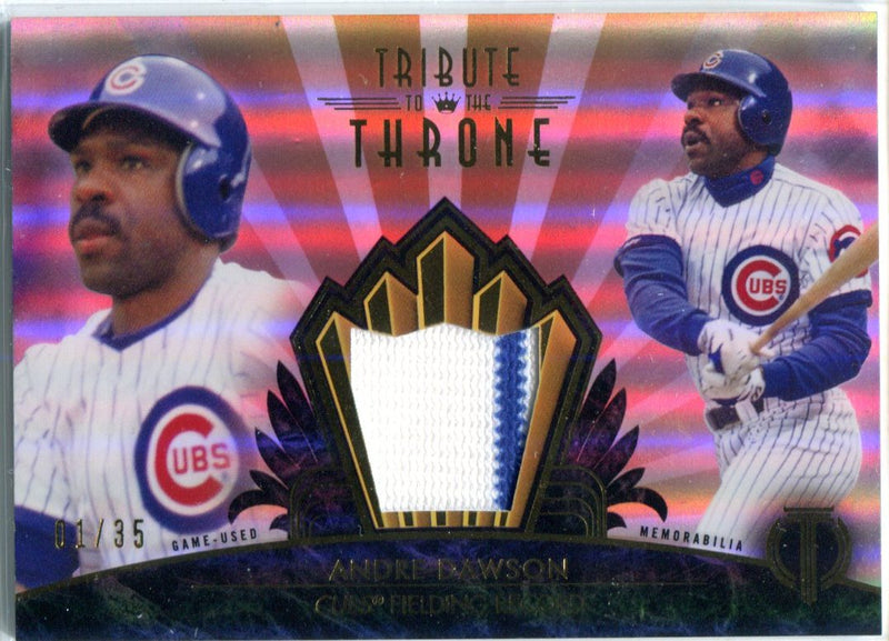 Andre Dawson 2014 Topps Tribute To The Throne Game-Used Memorabilia Unsigned Card #1/35 PSM-Powers Sports Memorabilia