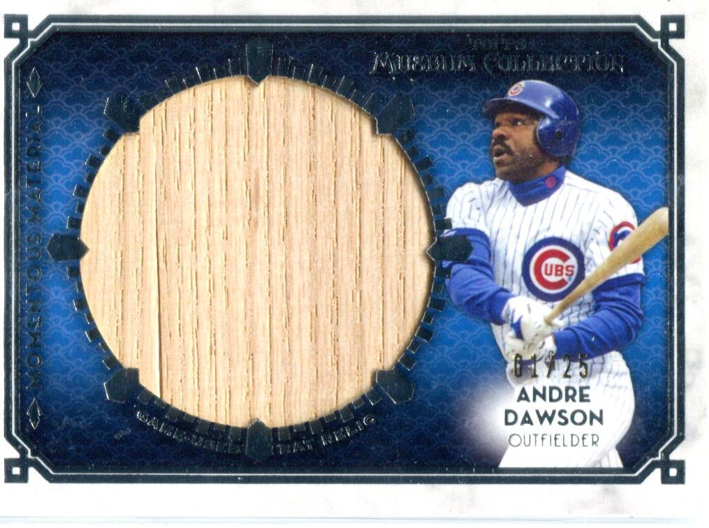 Andre Dawson 2014 Topps Museum Collection Jumbo Lumber Relic Unsigned Card #1/25 PSM-Powers Sports Memorabilia