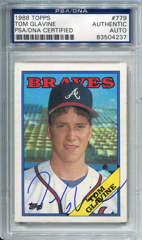 Tom Glavine Autographed 1988 Topps Card (PSA/DNA) PSM-Powers Sports Memorabilia