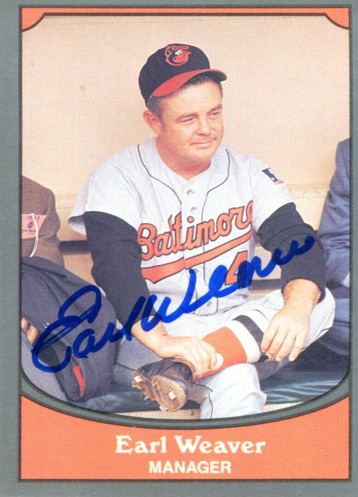 Earl Weaver Autographed 1990 Pacific Card PSM-Powers Sports Memorabilia