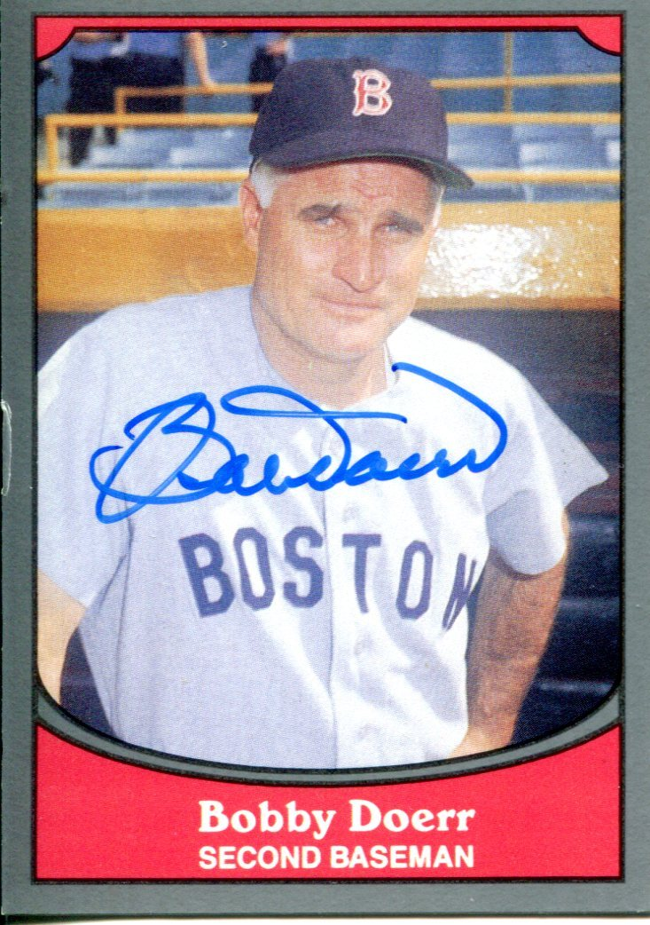 Bobby Doerr Autographed 1990 Pacific Card PSM-Powers Sports Memorabilia