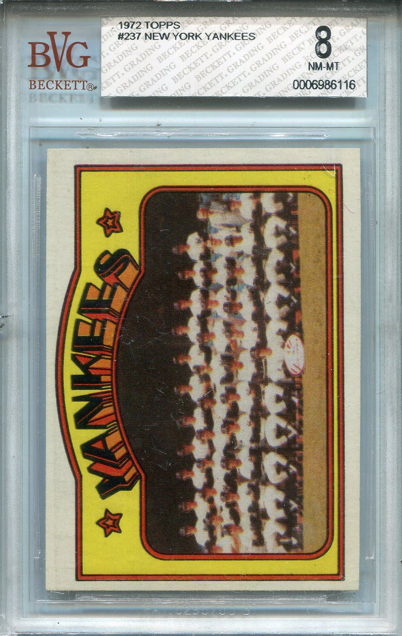 New York Yankees 1972 Topps Card #237 (BVG 8) PSM-Powers Sports Memorabilia