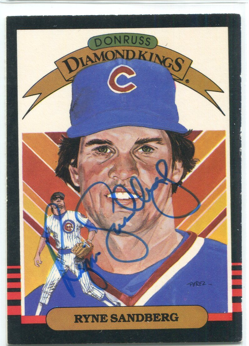 Ryne Sandberg Autographed 1985 Donruss Diamond Kings Card #1 PSM-Powers Sports Memorabilia
