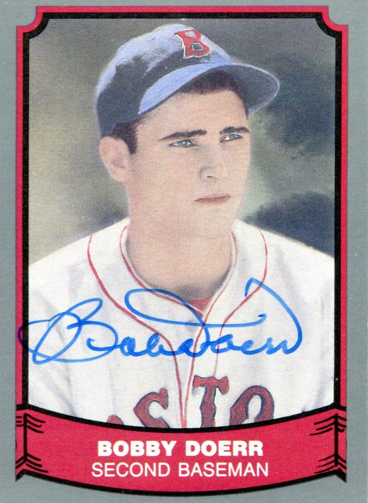 Bobby Doerr Autographed 88' Pacific Card PSM-Powers Sports Memorabilia