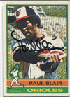 Paul Blair Autographed 1986 Topps Card #473 PSM-Powers Sports Memorabilia