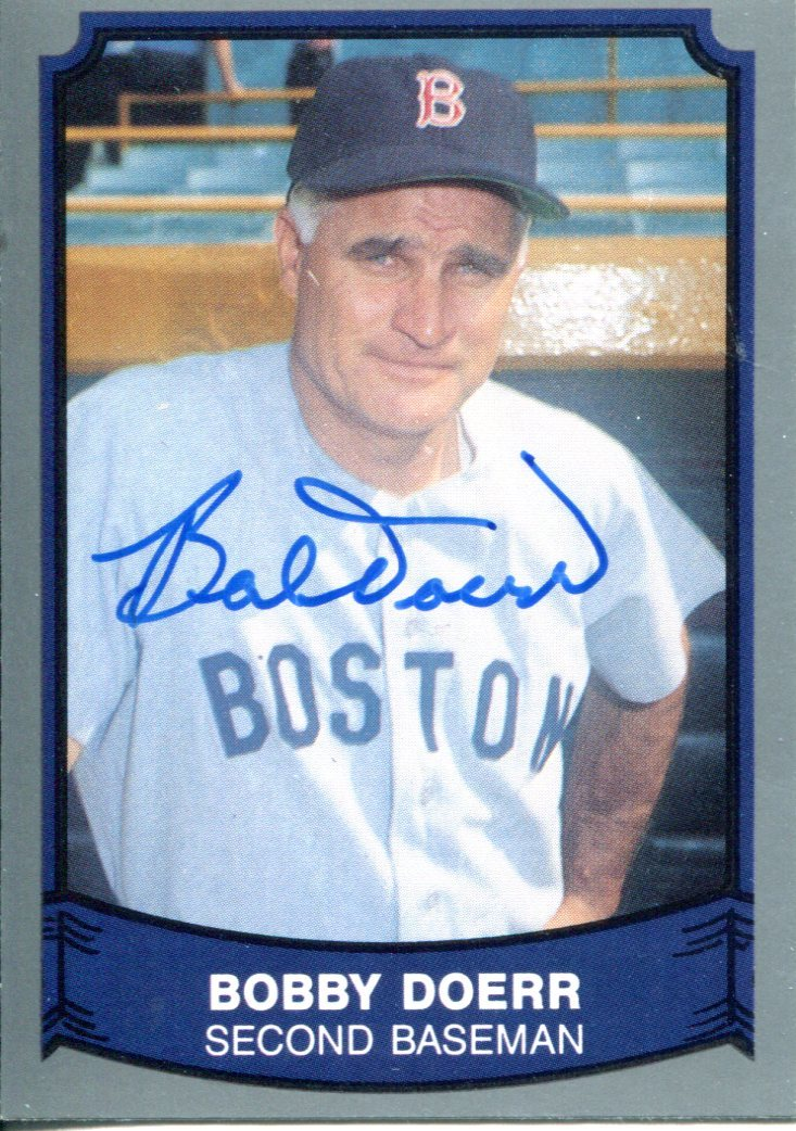 Bobby Doerr Autographed 1989 Pacific Card #150 PSM-Powers Sports Memorabilia