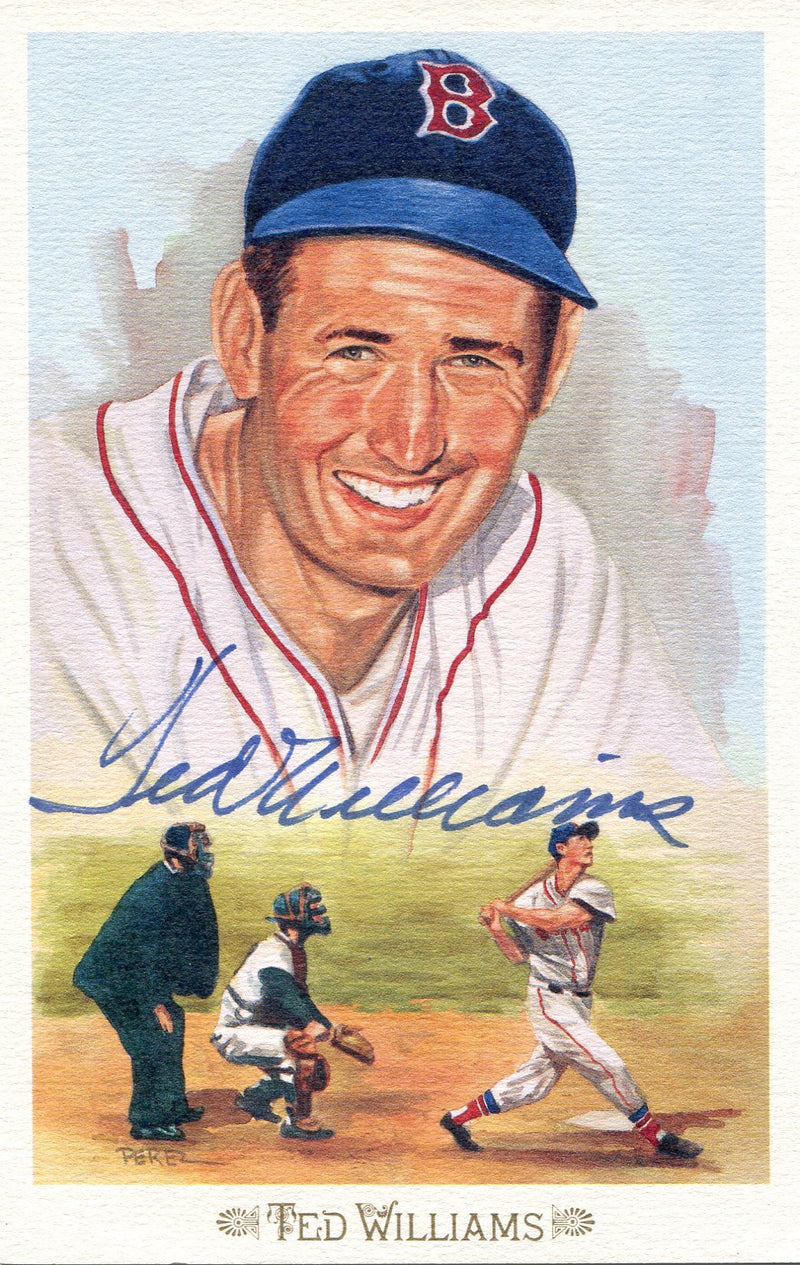Ted Williams Autographed Perez-Steele Celebration Postcard (JSA) PSM-Powers Sports Memorabilia