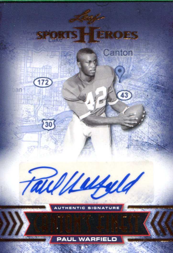 Paul Warfield Autographed 2013 Leaf Sports Heroes Card PSM-Powers Sports Memorabilia
