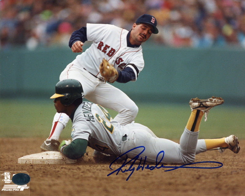 Rickey Henderson Autographed 8x10 Photo PSM-Powers Sports Memorabilia