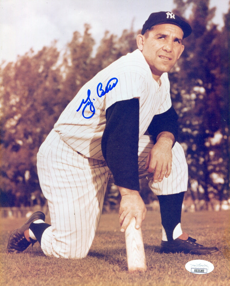 Yogi Berra Autographed 8x10 Photo (JSA) PSM-Powers Sports Memorabilia