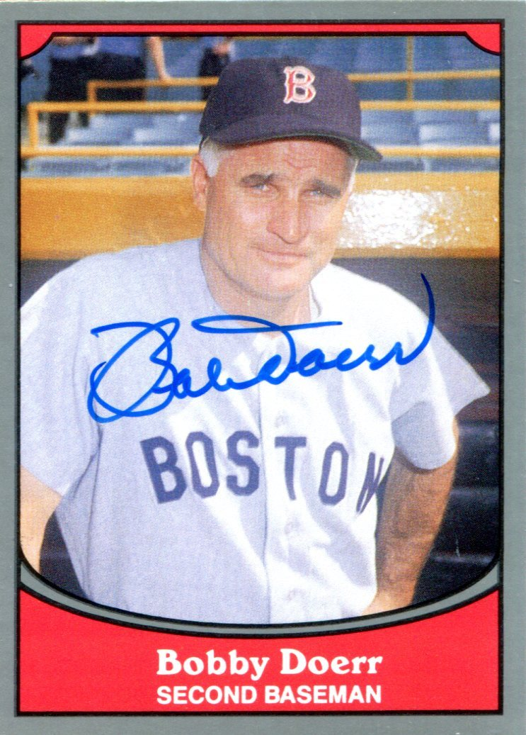 Bobby Doerr Autographed 1990 Pacific Card #21 PSM-Powers Sports Memorabilia