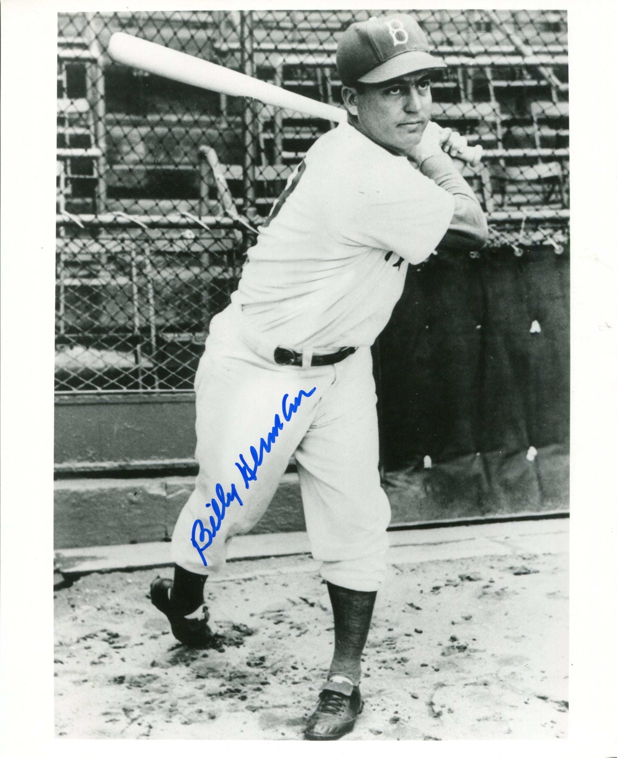 Billy Herman Autographed 8x10 Photo PSM-Powers Sports Memorabilia